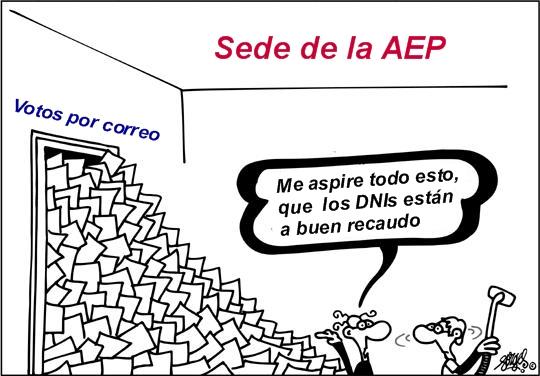 Correos sin garantías en la sede de la AEP