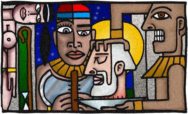 La Cabeza del Bautista. Alberto Menjoulou Pintor digital Uruguayo