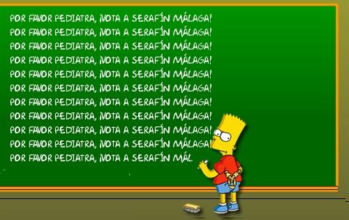 Bart Simpsom apoya Una AEP para Tod@s