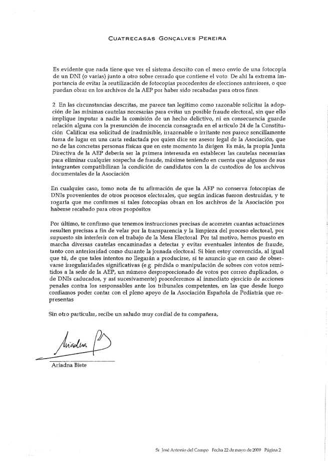 Fax Cuatrecasas 22-05-2009 página 2