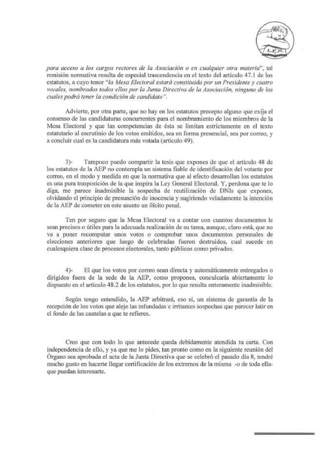Respuesta abogados AEP 2