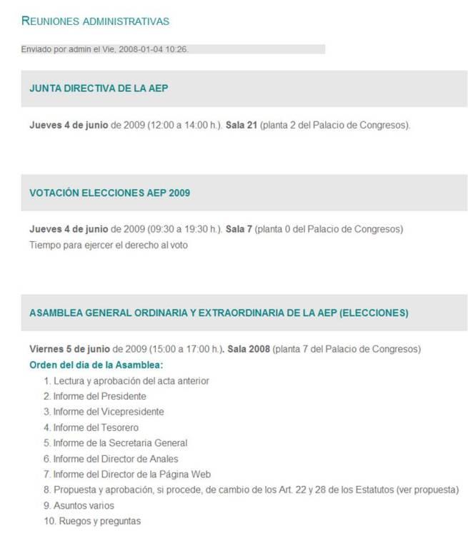 Web del congreso día 25