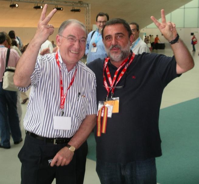 Un servidor con el nuevo presidente de la AEP